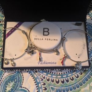 "Bella Perlina ""Fashionista"" 3pc Charm Bracelet Set"